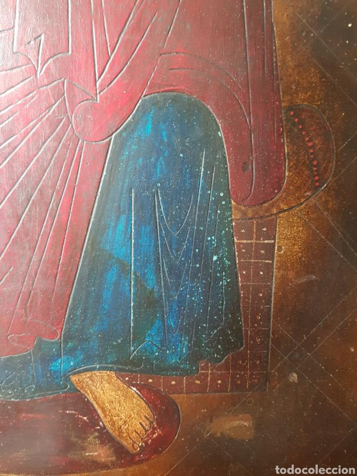 Arte: Pantocrator (XIX-XX) - Gran Retablo Anonimo.Temple/tabla. - Foto 8 - 176648550