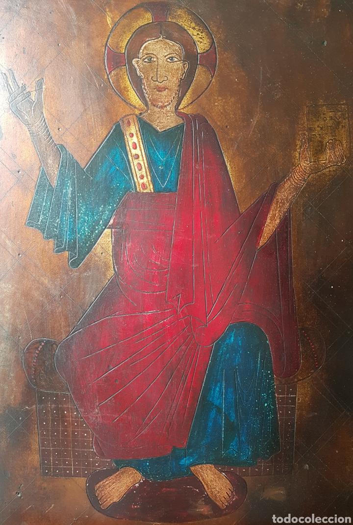 PANTOCRATOR (XIX-XX) - GRAN RETABLO ANONIMO.TEMPLE/TABLA. (Arte - Arte Religioso - Retablos)