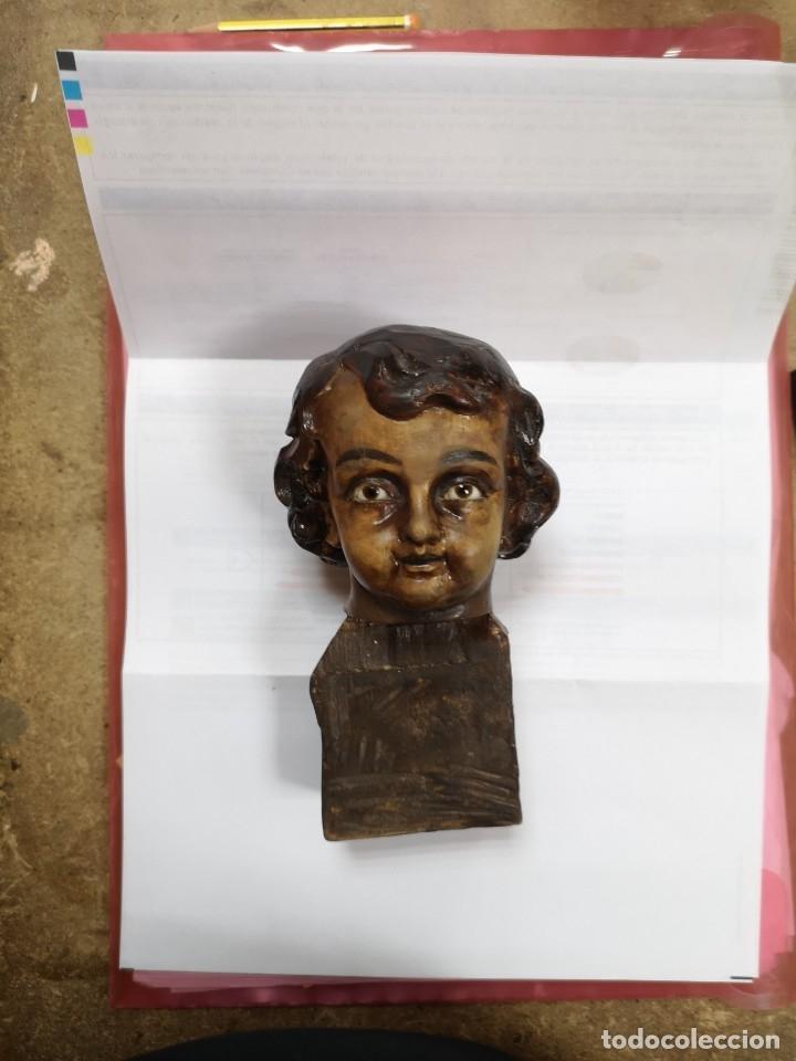 Arte: cabeza de niño madera nogal - Foto 4 - 177096012