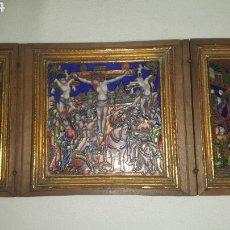 Arte: TRÍPTICO DE ESMALTE DE LIMOGES. Lote 177318245