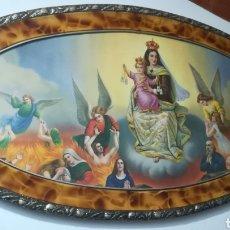 Arte: BONITO CUADRO RELIGIOSO ANUNCIACIÓN VIRGEN MARÍA NIÑO JESÚS POLICROMADO ESMALTE. Lote 177337257
