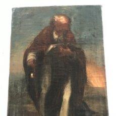 Arte: IMPORTANTE OLEO SOBRE LIENZO DE SAN ANTONIO ABAD. MEDIADOS DEL S.XVIII. . Lote 177384247