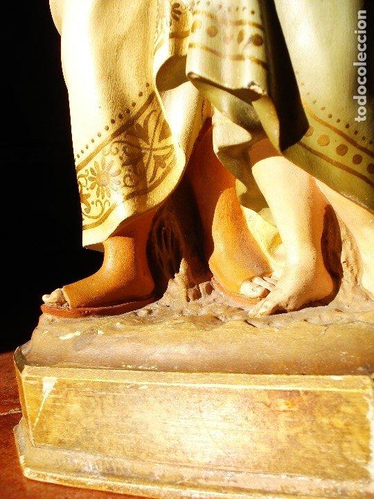 Arte: PIADOSO SANTO ANGEL CUSTODIO CON INFANTE PASTA DE MADERA POLICROMADA - Foto 3 - 177456737