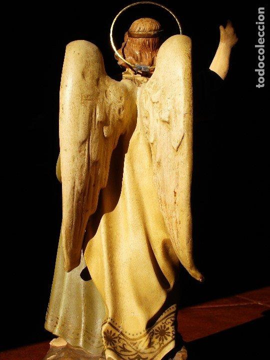 Arte: PIADOSO SANTO ANGEL CUSTODIO CON INFANTE PASTA DE MADERA POLICROMADA - Foto 8 - 177456737