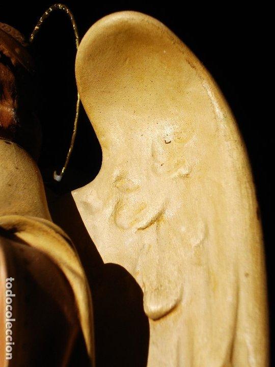 Arte: PIADOSO SANTO ANGEL CUSTODIO CON INFANTE PASTA DE MADERA POLICROMADA - Foto 13 - 177456737