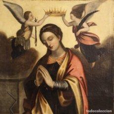 Arte: PINTURA RELIGIOSA ITALIANA ANTIGUA SANTA CATALINA DEL SIGLO XVIII. Lote 177484392