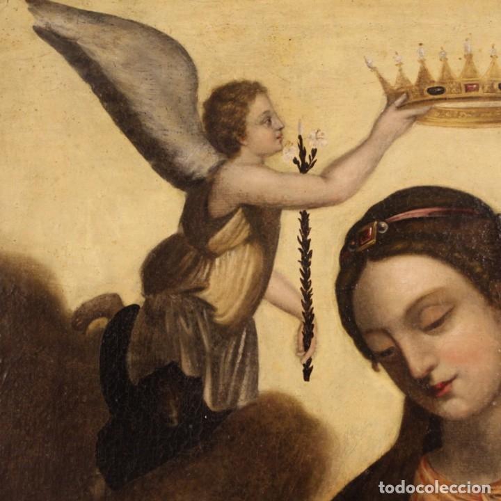 Arte: Pintura religiosa italiana antigua Santa Catalina del siglo XVIII - Foto 4 - 177484392
