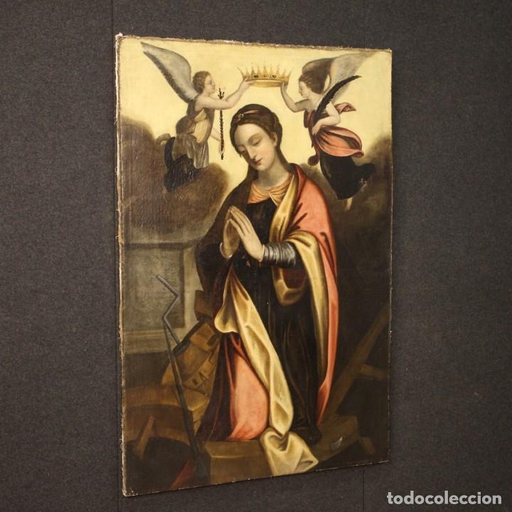 Arte: Pintura religiosa italiana antigua Santa Catalina del siglo XVIII - Foto 10 - 177484392