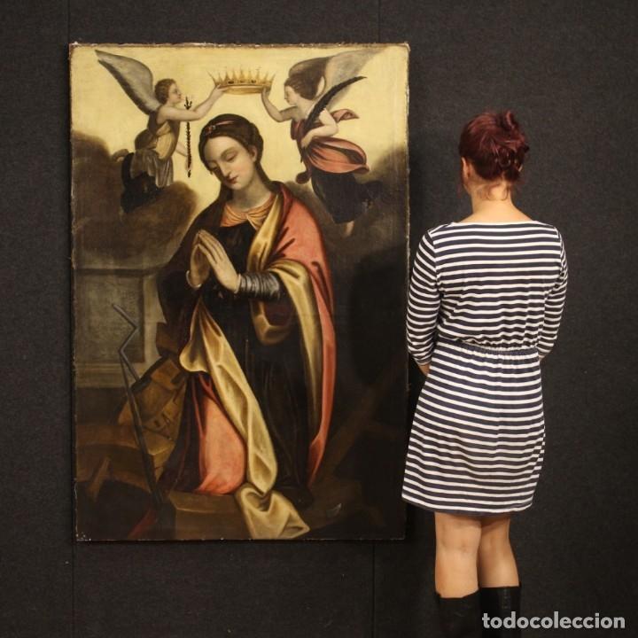 Arte: Pintura religiosa italiana antigua Santa Catalina del siglo XVIII - Foto 12 - 177484392