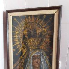 Arte: CUADRO AL OLEO DE VIRGEN DOLOROSA POR FAVOR LEER DESCRIPCIÓN ESTA FIRMADO FAUSTO ANTONIO MOYA. Lote 177502599