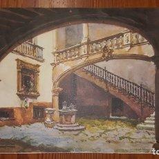 Arte: BONITA LITOGRAFIA DE ACUARELA DE BONNIN MIRANDA. PATIO DE LOS OLEZA. PROCEDE DE ALMANAQUE AÑO 1969.. Lote 177511054