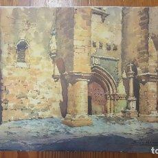 Arte: BONITA LITOGRAFIA DE ACUARELA DE BONNIN MIRANDA. I. DE SANTIAGO CACERES. PROCEDE ALMANAQUE AÑO 1969.. Lote 177512193