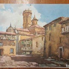 Arte: BONITA LITOGRAFIA DE ACUARELA DE BONNIN MIRANDA. RUPIT BARCELONA. PROCEDE ALMANAQUE AÑO 1969.. Lote 177512409