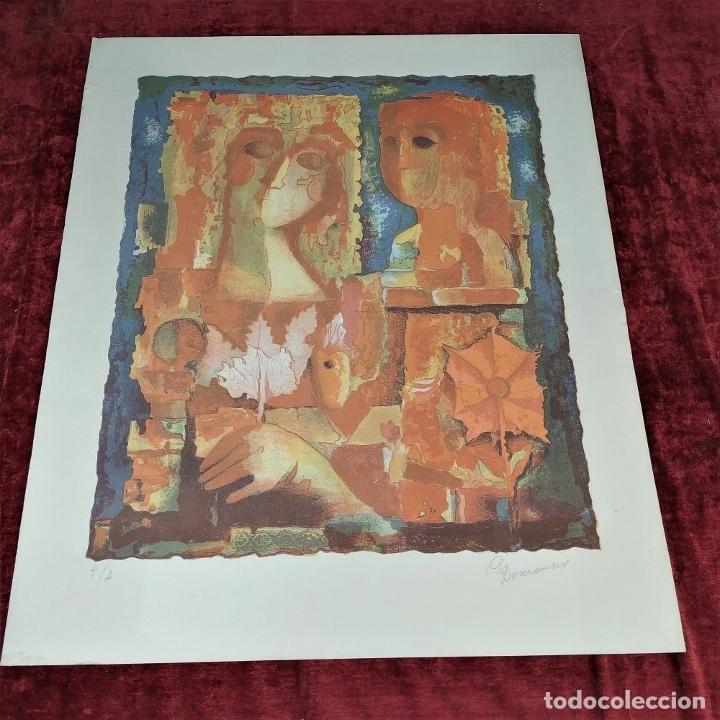 Arte: COMPOSICIÓN. LITOGRAFÍA SOBRE PAPEL. FIRMADO. P/A. ESPAÑA. SIGLO XX - Foto 2 - 177566832