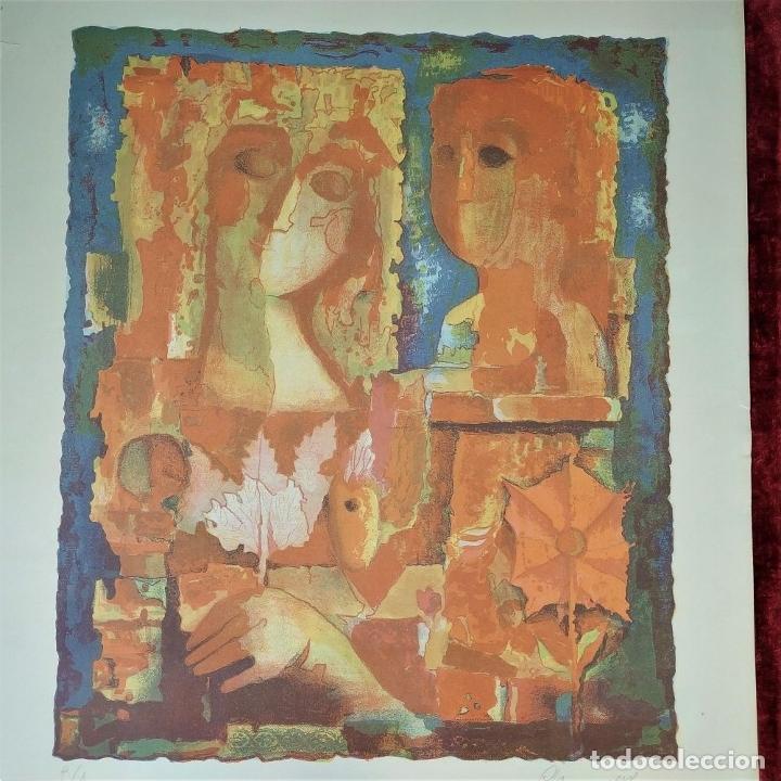Arte: COMPOSICIÓN. LITOGRAFÍA SOBRE PAPEL. FIRMADO. P/A. ESPAÑA. SIGLO XX - Foto 3 - 177566832