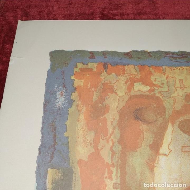 Arte: COMPOSICIÓN. LITOGRAFÍA SOBRE PAPEL. FIRMADO. P/A. ESPAÑA. SIGLO XX - Foto 5 - 177566832