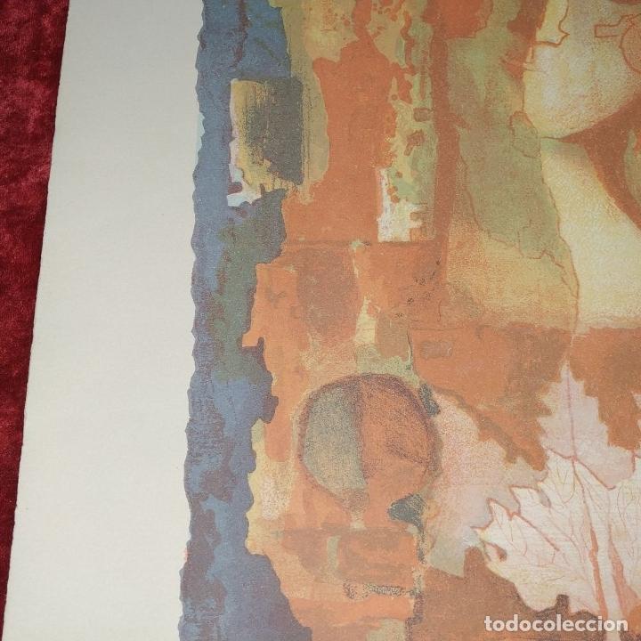Arte: COMPOSICIÓN. LITOGRAFÍA SOBRE PAPEL. FIRMADO. P/A. ESPAÑA. SIGLO XX - Foto 7 - 177566832