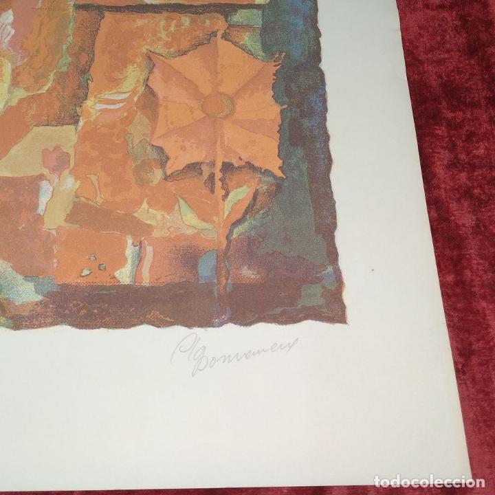 Arte: COMPOSICIÓN. LITOGRAFÍA SOBRE PAPEL. FIRMADO. P/A. ESPAÑA. SIGLO XX - Foto 8 - 177566832