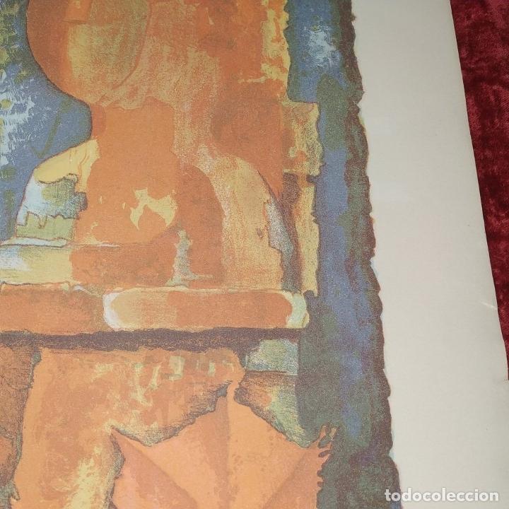 Arte: COMPOSICIÓN. LITOGRAFÍA SOBRE PAPEL. FIRMADO. P/A. ESPAÑA. SIGLO XX - Foto 9 - 177566832