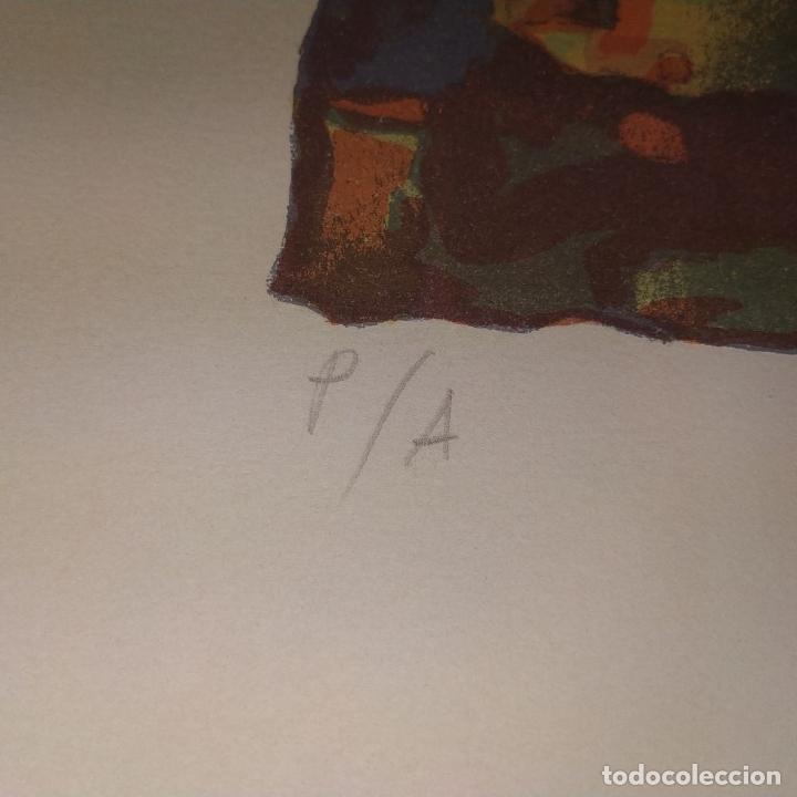 Arte: COMPOSICIÓN. LITOGRAFÍA SOBRE PAPEL. FIRMADO. P/A. ESPAÑA. SIGLO XX - Foto 10 - 177566832