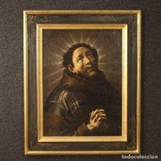 Arte: PINTURA RELIGIOSA ANTIGUA ÉXTASIS DE SAN FRANCISCO DEL SIGLO XVIII. Lote 177584403