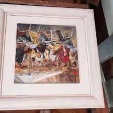 Arte: JOSEP BONET SUBIRATS.OLEO RAMBLA 35X35CM .250 EUROS. Lote 177614358