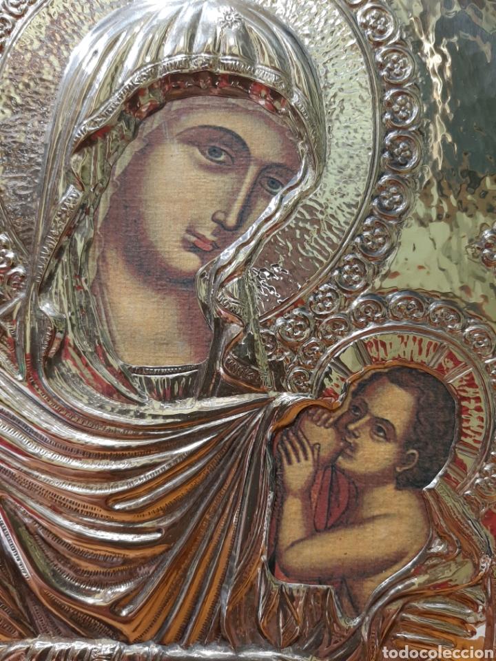 Arte: ANTIGUO ICONO BIZANTINO DE PLATA. - Foto 2 - 177634740