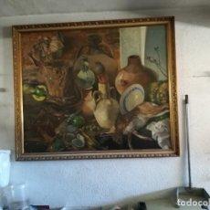Arte: GRAN BODEGÓN. OLEO FIRMADO 120 X 140 CM.. Lote 177674892