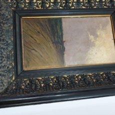 Arte: OLEO PINTADO EN TABLA S. XIX FIRMADO. Lote 177756617
