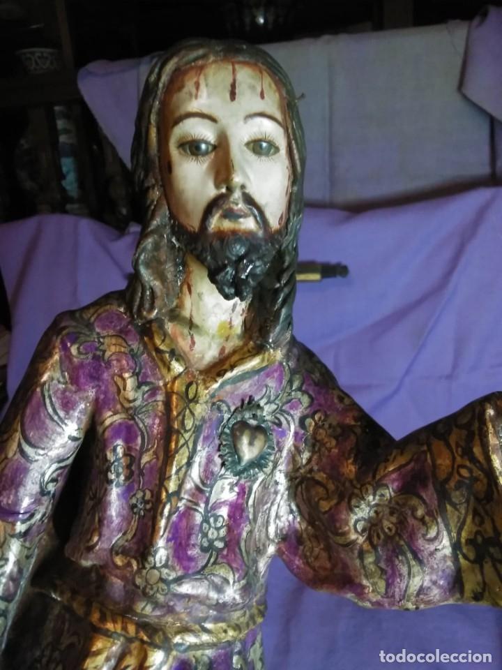 VIA CRUCIS PASSION JESUS CHRIST OLOT AND WOOD. COLONIAL PERU.CENTURY 18 - 19 (Arte - Arte Religioso - Escultura)