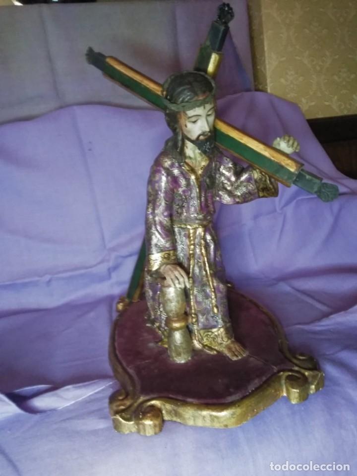 Arte: VIA CRUCIS PASSION Jesus Christ Olot and wood. Colonial Peru.Century 18 - 19 - Foto 2 - 177757967