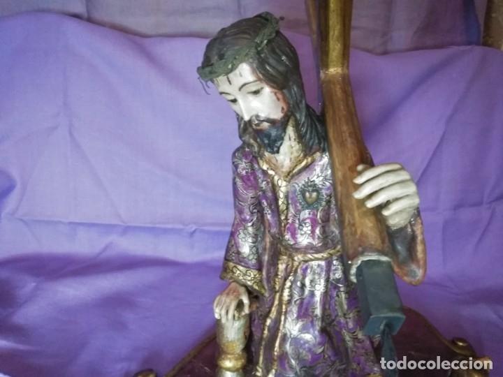 Arte: VIA CRUCIS PASSION Jesus Christ Olot and wood. Colonial Peru.Century 18 - 19 - Foto 7 - 177757967