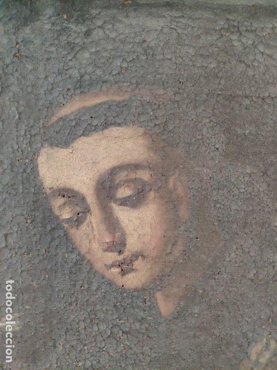 Arte: ÓLEO SOBRE LIENZO SAN ANTONIO SIGLO XVIII - 1000-075 - Foto 5 - 43145475