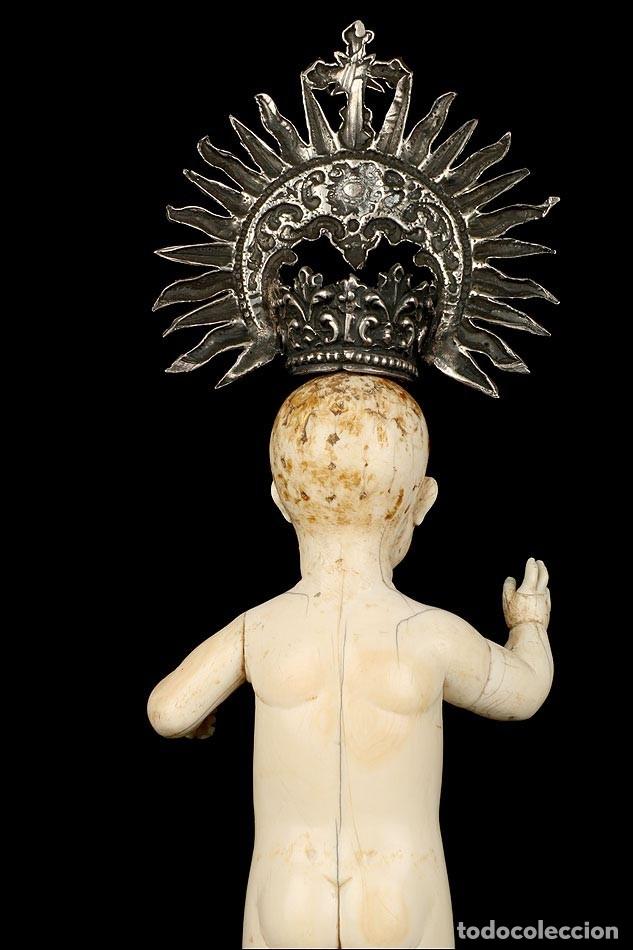 Arte: Antiguo Niño Jesús en Marfil. Hispano Filipino. S. XVIII. Con CITES - Foto 17 - 177786563