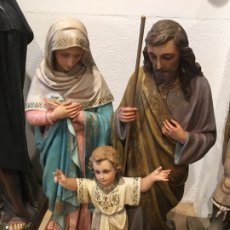 Arte: DESCOMUNAL SAGRADA FAMILIA EN ESTUCO DE OLOT, PASTA DE MADERA. Lote 177841923