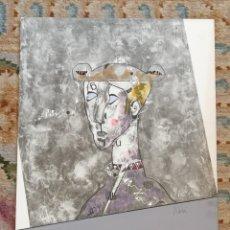 Arte: OSWALDO AULÉSTIA BACH. LITOGRAFÍA CON TIRAJE Nº94/100. PERSONAJE. Lote 177862108