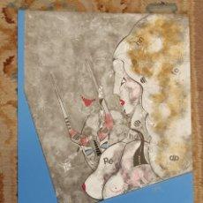 Arte: OSWALDO AULÉSTIA BACH. LITOGRAFÍA CON TIRAJE Nº94/100. COMPOSICIÓN. Lote 177863149