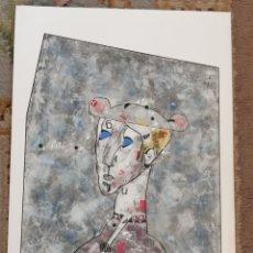 Arte: OSWALDO AULÉSTIA BACH. LITOGRAFÍA (PRUEBA DE ARTISTA) PERSONAJE. Lote 177863499