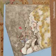 Arte: OSWALDO AULÉSTIA BACH. LITOGRAFÍA CON TIRAJE Nº22/100. COMPOSICIÓN. Lote 177865284