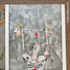 Arte: OSWALDO AULÉSTIA BACH. LITOGRAFÍA CON TIRAJE Nº22/100. COMPOSICIÓN. Lote 177865529