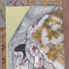 Arte: OSWALDO AULÉSTIA BACH. LITOGRAFÍA CON TIRAJE Nº94/100. PERSONAJES. Lote 177866939