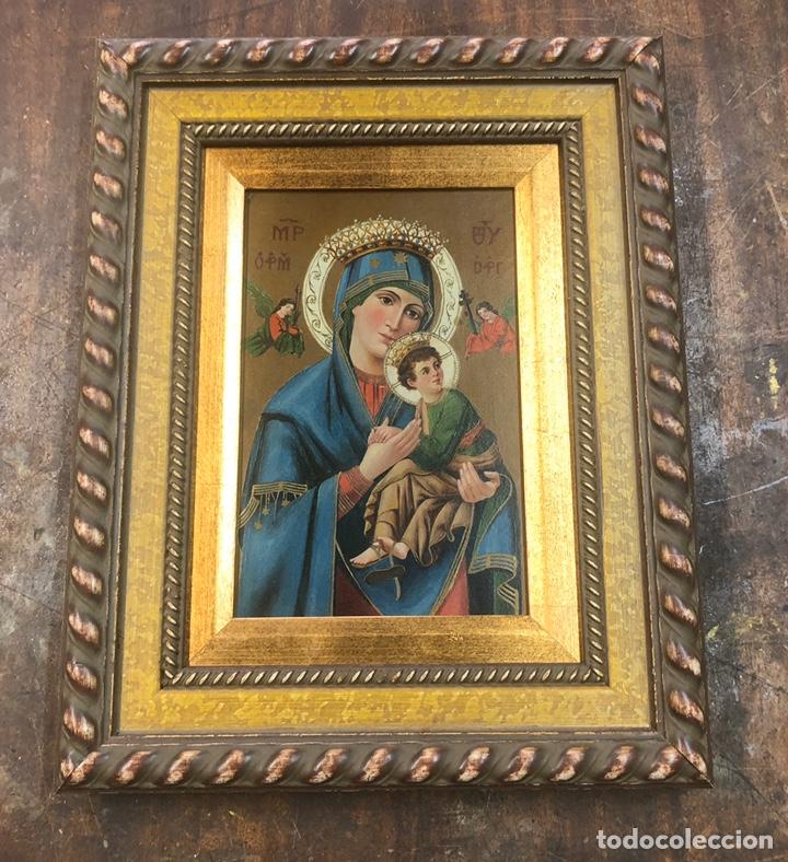 OLEO/TABLA PINTURA DEL SIGLO XIX MEDIDAS 27X26 CON MARCO 34X43 (Arte - Arte Religioso - Pintura Religiosa - Oleo)