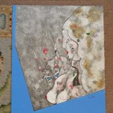 Arte: OSWALDO AULÉSTIA BACH. LITOGRAFÍA CON TIRAJE Nº37/100. COMPOSICIÓN. Lote 177872074