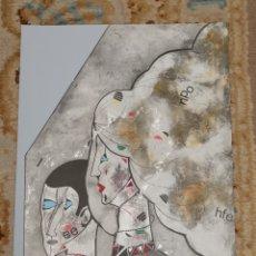 Arte: OSWALDO AULÉSTIA BACH. LITOGRAFÍA CON TIRAJE Nº48/100. PERSONAJES. Lote 177872322