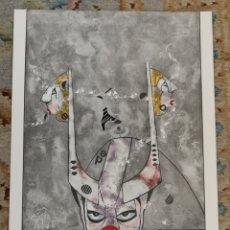 Arte: OSWALDO AULÉSTIA BACH. LITOGRAFÍA CON TIRAJE Nº72/100. COMPOSICIÓN. Lote 177873372