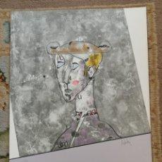 Arte: OSWALDO AULÉSTIA BACH. LITOGRAFÍA CON TIRAJE Nº73/100. PERSONAJE. Lote 177876009
