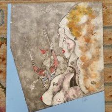 Arte: OSWALDO AULÉSTIA BACH. LITOGRAFÍA CON TIRAJE Nº72/100. COMPOSICIÓN. Lote 177878573