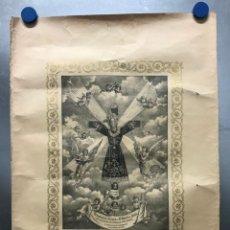 Arte: VERDADERA EFIGIE DEL SANTO BULTO DE JESUS - ANTIGUA LITOGRAFIA. Lote 177879409