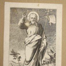 Arte: GRABADO CALCOGRAFICO SALVADOR MUNDI. SIGLO XVIII. Lote 177883344