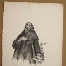 Arte: LITOGRAFIA S. FRANCISCO DE ASIS. SIGLO XIX. Lote 177883569